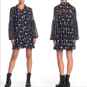 Free People Turn Turn Long Sleeve Mini Dress XS